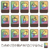 Tab icons set 2 — Stock Vector