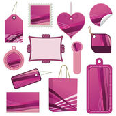 Pink tag set — Stock Vector