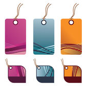 Decorative tags — Stock Vector