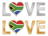 Love south africa — Stock Vector