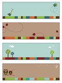 Nature banners set 1 — Stock Vector