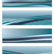 Stock Vector: Blue gradient banners