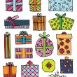 Hand drawn gifts — Stock Vector