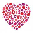 Big love — Stock Vector