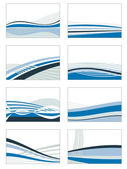 Blue card set — Stock Vector