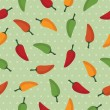 Chilli pepper pattern - Stock Vector