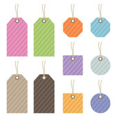 Striped tags — Stock Vector