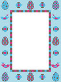 Easter frame decoration — Stock Vector