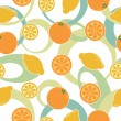 Orange and lemon pattern seamless — Stock Vector