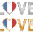 Love france — Stock Vector