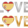 Love spain — Stock Vector