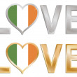 Love ireland — Stock Vector
