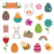 Easter stickers - Stock Vector