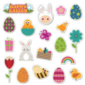Easter stickers — Stock Vector
