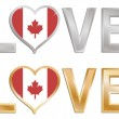 Love canada - Stock Vector