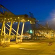 Fully automated container terminal - Stock Photo