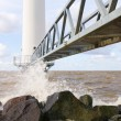 Wind turbine jetty — Stockfoto