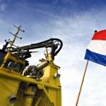 Dutch Fire Boat — Stock Photo