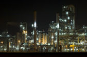 Petrochemical Industry at Night — Stock Photo