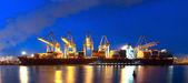 Konteyner gemisi panorama — Stok fotoğraf