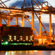 Container terminal activity - Stock Photo
