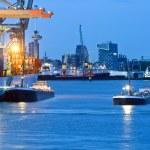 City harbor — Stock Photo