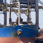 Unloading iron ore — Stock Photo