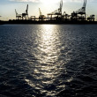 Stock Photo: industrial harbor silhouette