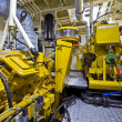 Tugboat engine room — Stock Photo