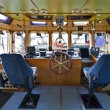 The wheelhouse of a fire boat — Stock Photo #2081384