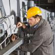 Maintenance engineer at work — Stock Photo