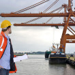 Harbor Inspection - Stock Photo
