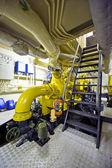 Tugboat's engine room — Stock Photo