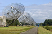 Eleven Radio Telescopes in a row — Stock Photo