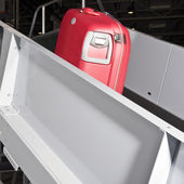 Luggage conveyor belt — Stock Photo