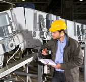 Industrial equipment check — Stock Photo