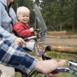 Family on a bike ride — Stock Photo #2091451