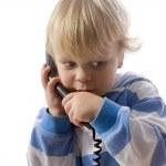 Boy on phone — Stock Photo