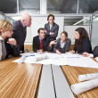 Architect cubicle — Stock Photo