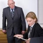 Observing an associate — Stock Photo