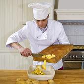 Preparing an ovendish — Stock Photo