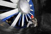Windkanal evus arbeitnehmer — Stockfoto