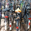 Stock Photo: Bicycle parking at railway station