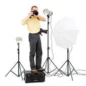 Studio photographer — Stock Photo