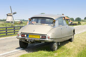 Dutch scene with a French Classic Car — Stock Photo