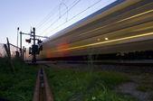 Passing train — Stock Photo