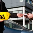 Foto de Stock  : Getting the taxi license