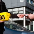 Getting the taxi license — Stock Photo