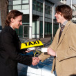 Getting the taxi license — Stock Photo #2110911