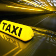 Stock Photo: Fast taxi